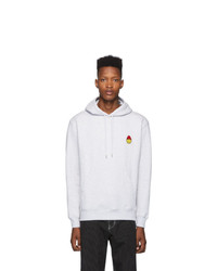 AMI Alexandre Mattiussi Grey Smiley Edition Hoodie