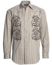 Stetson Satin Stripe Embroidered Shirt