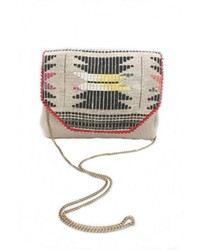 Embroidered flap bag medium 286951