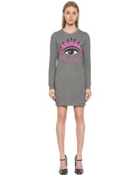 Kenzo Eye Embroidered Cotton Sweatshirt Dress