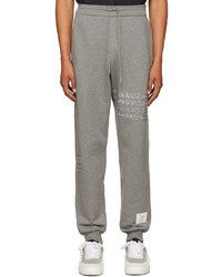 Thom Browne Grey Loopback Ding Stitch Lounge Pants