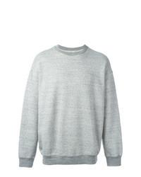 Grey Embroidered Sweatshirt