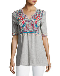 Johnny Was Jwla For Mina Boho Embroidered Easy Tunic Petite