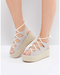 Gray espadrille wedge medium 3764443
