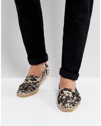 Slip on espadrilles in stone camo medium 4418859