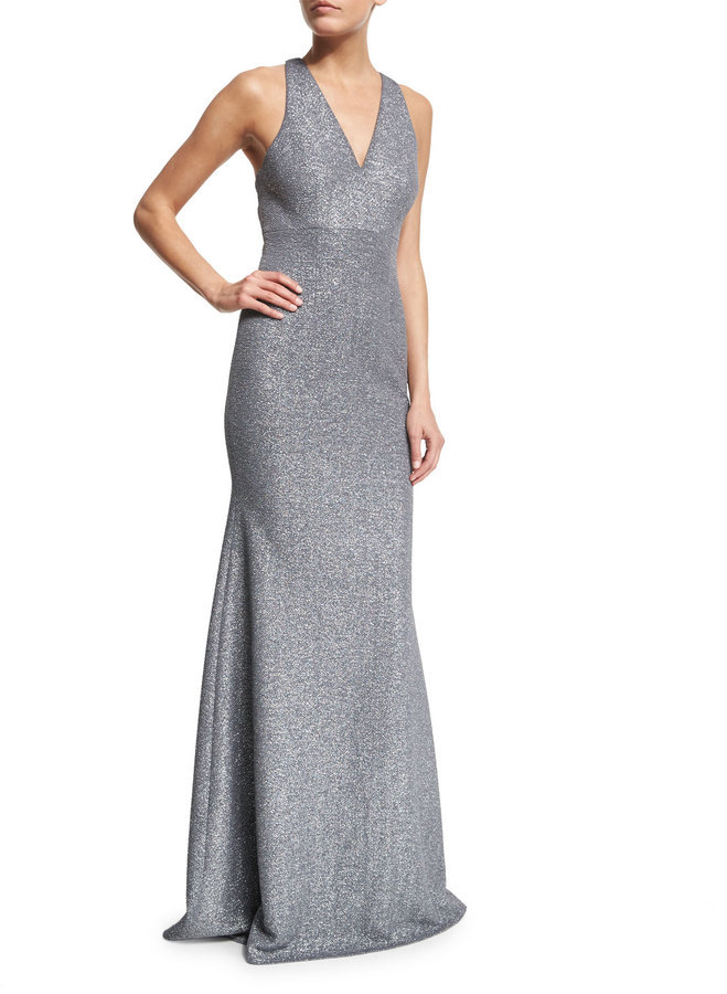 David Meister Sleeveless Open Back Gown | Where to buy & how to wear