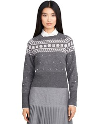 Brooks brothers foulard fair isle crewneck sweater medium 124433