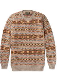 Cordings fair isle shetland wool sweater medium 1157393