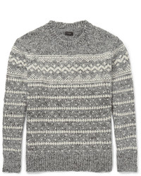 J.Crew Fair Isle Wool Blend Sweater