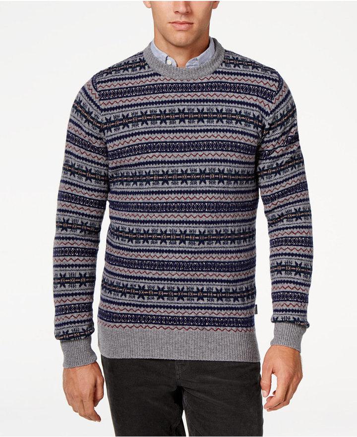 Barbour Harvard Fair Isle Crew Neck Sweater   Where to buy & how ...