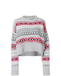 Intarsia knit jumper medium 8621635