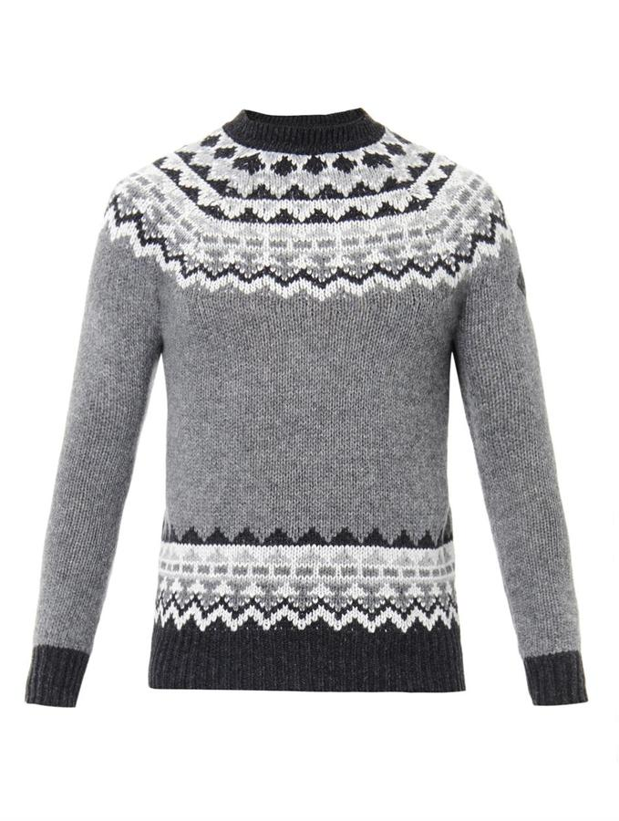 Moncler W Fair Isle Intarsia Knit Sweater | Where to buy & how to wear