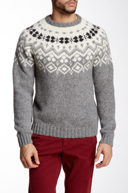 Gant Rugger Jacquard Knit Crew Neck Sweater | Where to buy & how ...