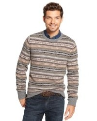 8391f39e9 Men s Grey Fair Isle Crew-neck Sweaters from Macy s