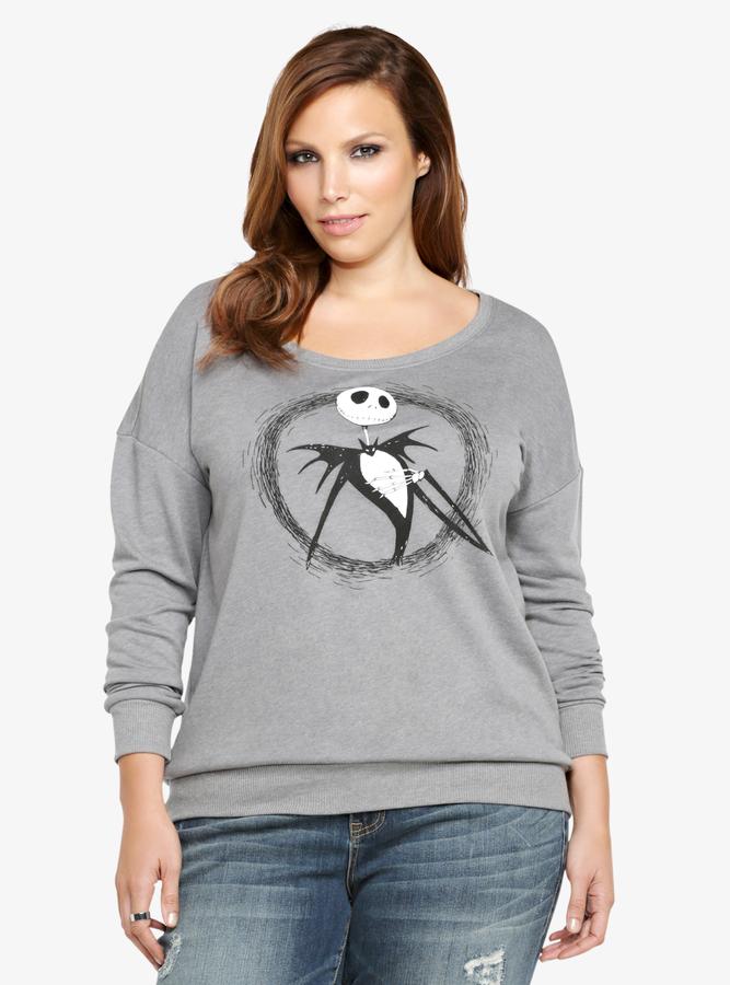 Torrid The Nightmare Before Christmas Jack Skellington Sweatshirt ...
