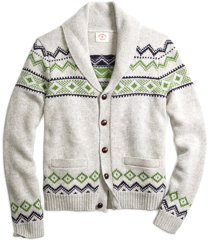 Brooks Brothers Fair Isle Cardigan | Where to buy & how to wear