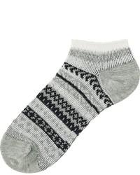 Uniqlo Fair Isle Short Socks