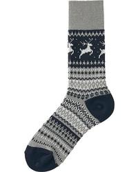 Uniqlo Heattech Fair Isle Socks