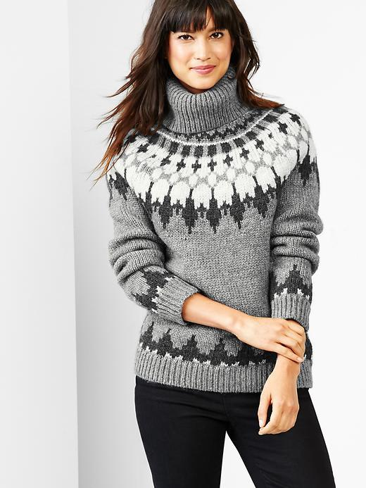 Gap Oversize Fair Isle Turtleneck Sweater | Where to buy & how to wear