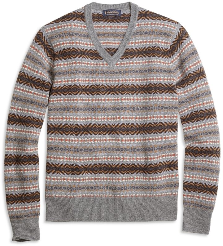 Brooks Brothers Fair Isle V Neck Sweater | Where to buy & how to wear