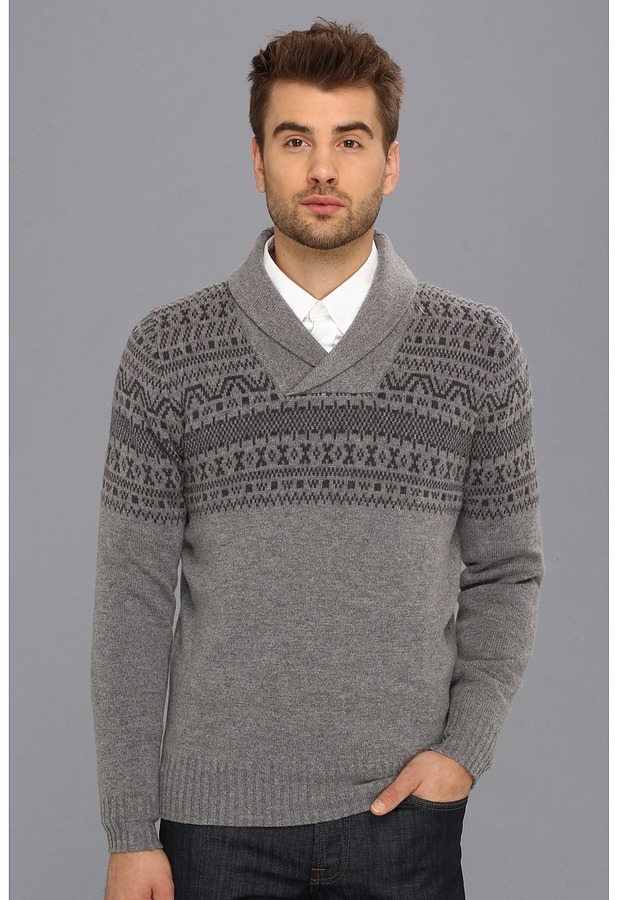 Ben Sherman Shawl Collar Fairisle Sweater Apparel | Where to buy ...