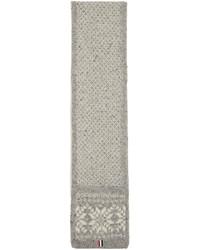Thom Browne Grey Snowflake Fair Isle Pocket Scarf