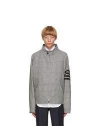 Thom Browne Black And White Wool 4 Bar Jacket