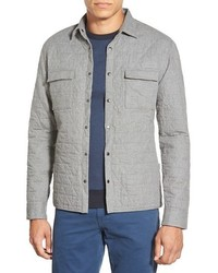 Rain slim fit quilted cotton shirt jacket medium 447540