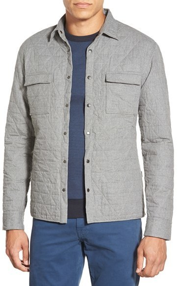 BOSS Rain Slim Fit Quilted Cotton Shirt Jacket | Where to buy ...