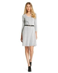 Merona Textured Ponte Fit And Flare Dress Tm