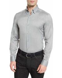 Ermenegildo Zegna Baby Flannel Long Sleeve Sport Shirt Gray