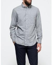 Gitman Brothers Portuguese Flannel Grey