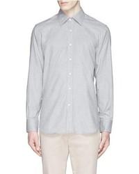 Canali Herringbone Flannel Shirt