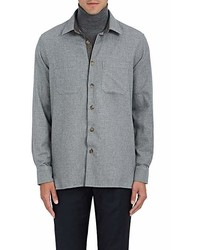 Luciano Barbera Houndstooth Cotton Shirt