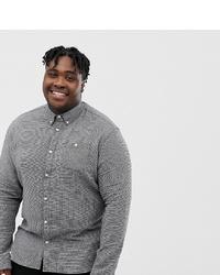 03566314016de4 Grey Flannel Long Sleeve Shirts for Men   Men's Fashion   Lookastic.com
