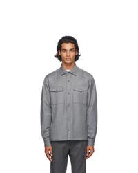 Z Zegna Grey Wool Shirt Jacket