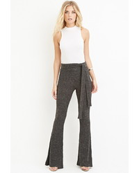 Forever 21 Contemporary Belted Flare Pants