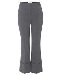 Stella McCartney Cropped Flared Wool Trousers
