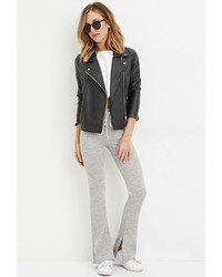 Forever 21 Drawstring Ribbed Flared Pants