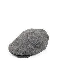 Brixton hats barrel flat cap grey black medium 62777