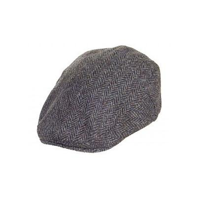 0f033968e23 Harris Tweed Flat Cap Grey Mix. Grey Flat Cap by Failsworth Hats