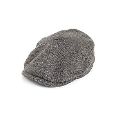 great deals uk store half off Hatteras Silk Newsboy Cap Grey
