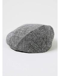 8aa4bcf161a889 Topman Grey Chambray Flat Cap, $24   Topman   Lookastic.com