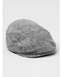 Topman Grey Chambray Flat Cap