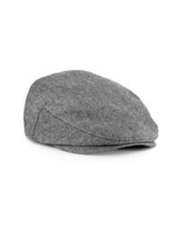 Topman Herringbone Driving Cap Grey Mediumlarge