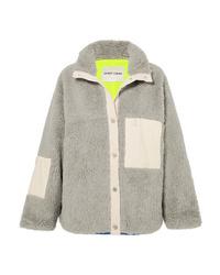 Sandy Liang Ollie  Trimmed Fleece Jacket