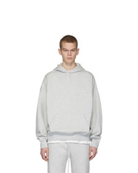 Essentials Grey Fleece Hoodie