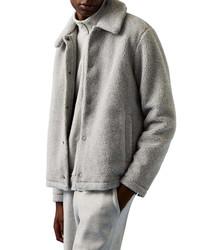 Topman Borg Shetland Faux Fur Coach Jacket
