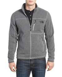 Grey Fleece Zip Sweater