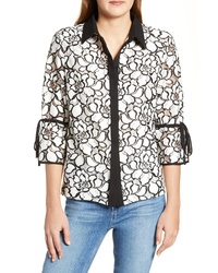 Ming Wang Lace Shirt